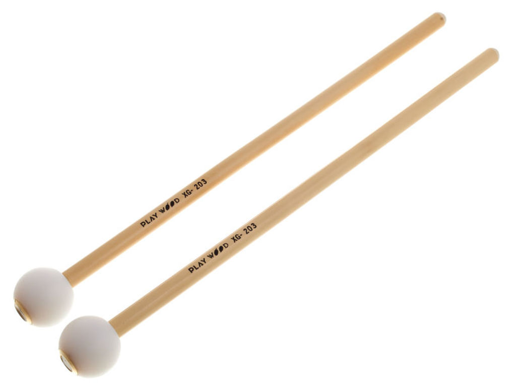 Klokkenspel Mallets Playwood XG203, XG Serie, Diameter 27mm, Nylon bal, Rattan