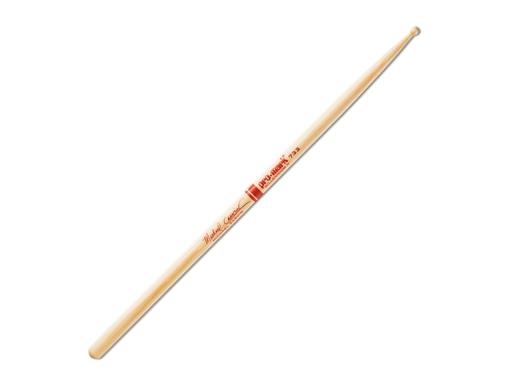 "Drumstokken Promark TX733W, Signature Michael Carvin, Hickory 773 .531"", Lengte 16"", Rond, Houten tip"