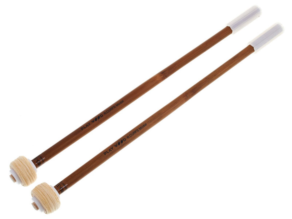 Pauken Mallets Playwood PRO-3314, Raymond Curfs Flannel Serie, Diameter 28mm, Smooth, directe klank, chamois leer