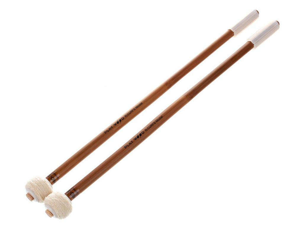 Pauken Mallets Playwood PRO-3321, Raymond Curfs Flannel Serie, Diameter 28mm, Medium attack, Duits katoen