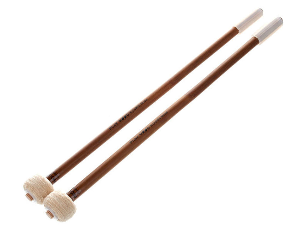 Pauken Mallets Playwood PRO-3322, Raymond Curfs Flannel Serie, Diameter 28mm, Helder & medium klank, Duits Katoen