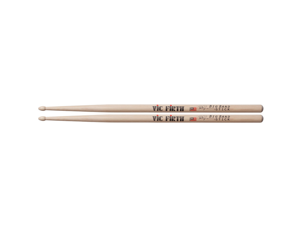 "Drumsticks Vic Firth SPE3, Signature series, Peter Erskine, Big Band, Hickory SPE3 .585"", length 16"", Tear Drop, wooden Tip"