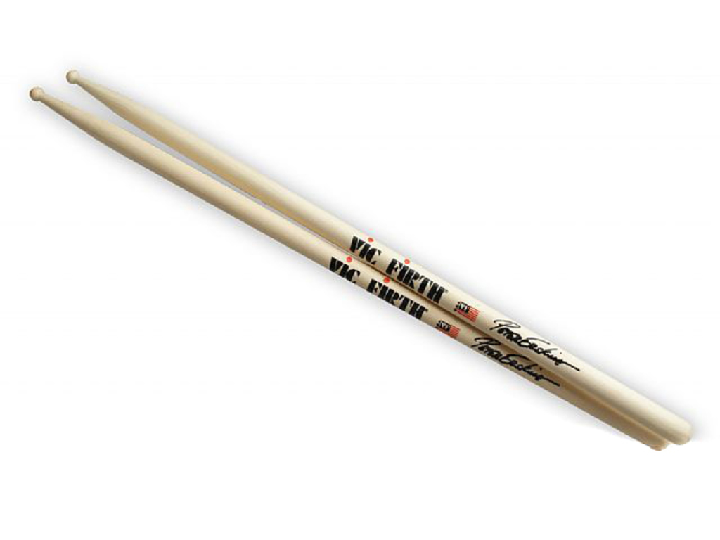 "Drumsticks Vic Firth SPE, Signature series, Peter Erskine, Hickory SPE .525"", length 16"", round, wooden Tip"