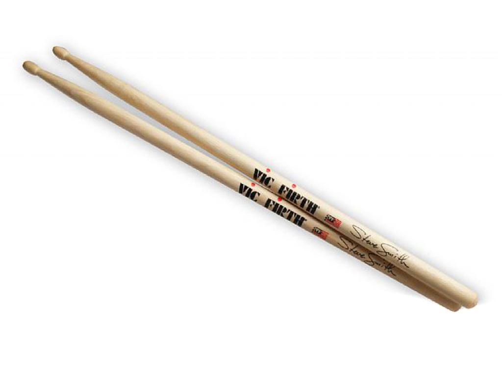 "Drumstokken Vic Firth SSS, Signature Serie, Steve Smith, Hickory SSS .555"", Lengte 16"", Oval, Houten Tip"