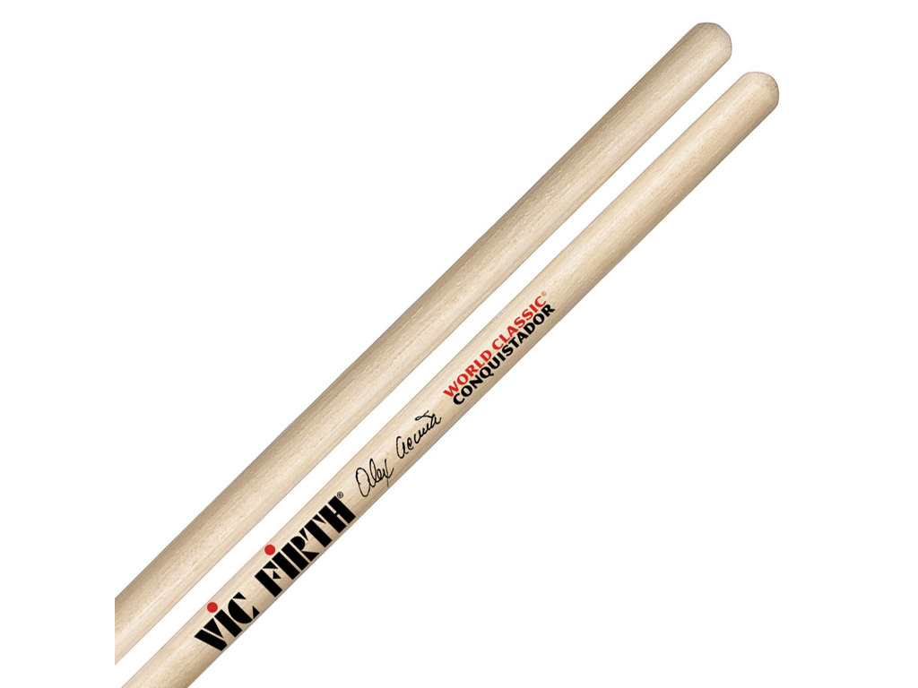 "Timbale Sticks Vic Firth SAAC,  Alex Acuńa, Clear Conquistador, 16"", diamter 0.440"