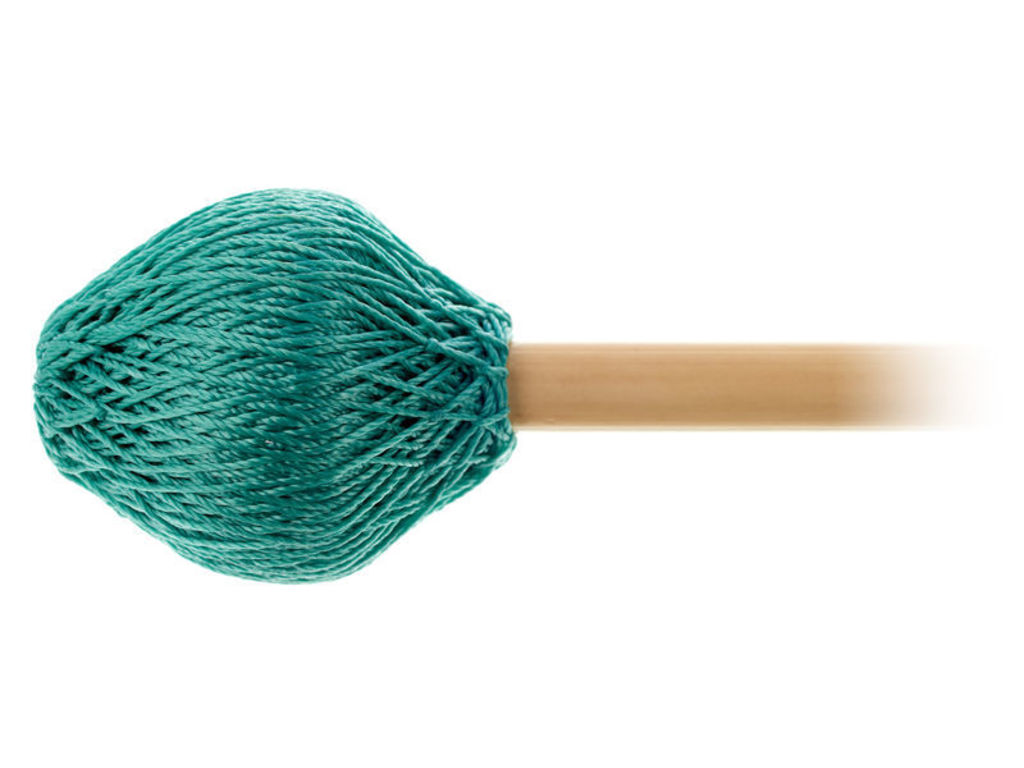 "Vibrafoon Mallets Mike Balter 125R, Super Vibe Serie, Lengte 15 1/2"", Aqua Koord, Medium Soft, Rattan"