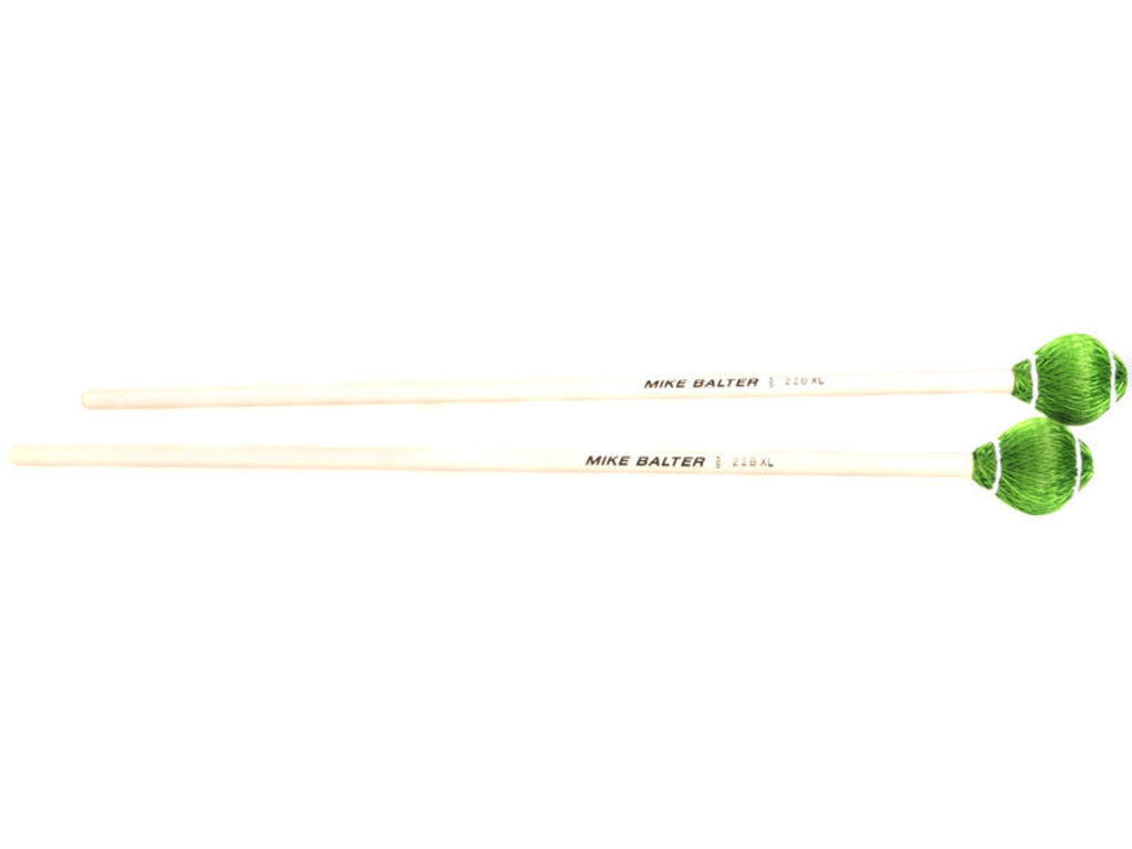 Vibrafoon Mallets Mike Balter 22B XL, Pro Vibe Serie, Groen Koord, Medium Hard, Berken