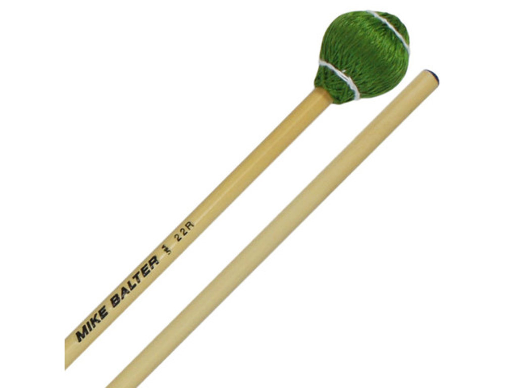 "Vibraphone Mallets Mike Balter 22B, Pro Vibe series, length 15 1/2"", green cord, Medium hard, Birch"