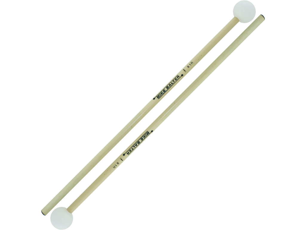 "Xylofoon / Klokkenspel Mallets Mike Balter 91-R, Unwound Serie, Diameter 1 1/8"", Rond Wit Poly, Medium Hard, Rattan"