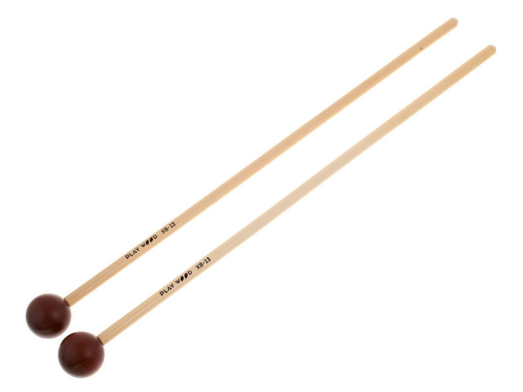 Xylophone / Glockenspiel Mallets Playwood XB-13, Diameter 25.5x350mm, ball, Phenol, Extra hard, rattan