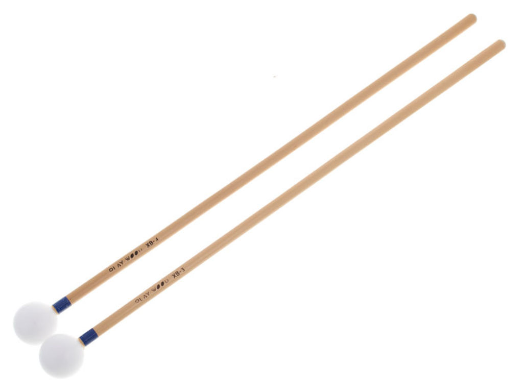 Xylofoon / Klokkenspel Mallets Playwood XB-3, Diameter 25.5 x 350mm, Bal, Acetal, Heel Hard, Rattan