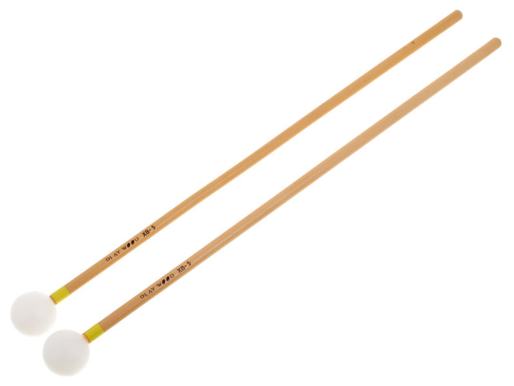 Xylofoon / Klokkenspel Mallets Playwood XB-5, Diameter 26 x 350mm, Bal, Nylon, Heel Hard, Rattan