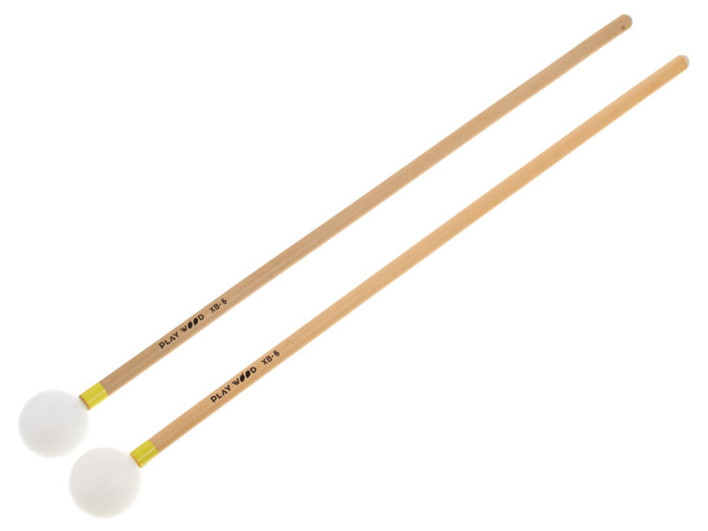 Xylofoon / Klokkenspel Mallets Playwood XB-6, Diameter 28.5 x 350mm, Bal, Nylon, Heel Hard, Rattan