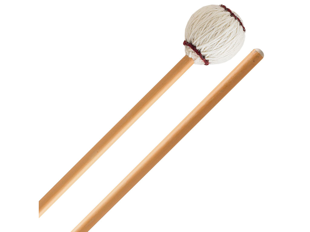 Marimba Mallet Innovative Percussion IP 3104, Ludwig Albert Serie, Medium soft, weiß Garn, Rattan