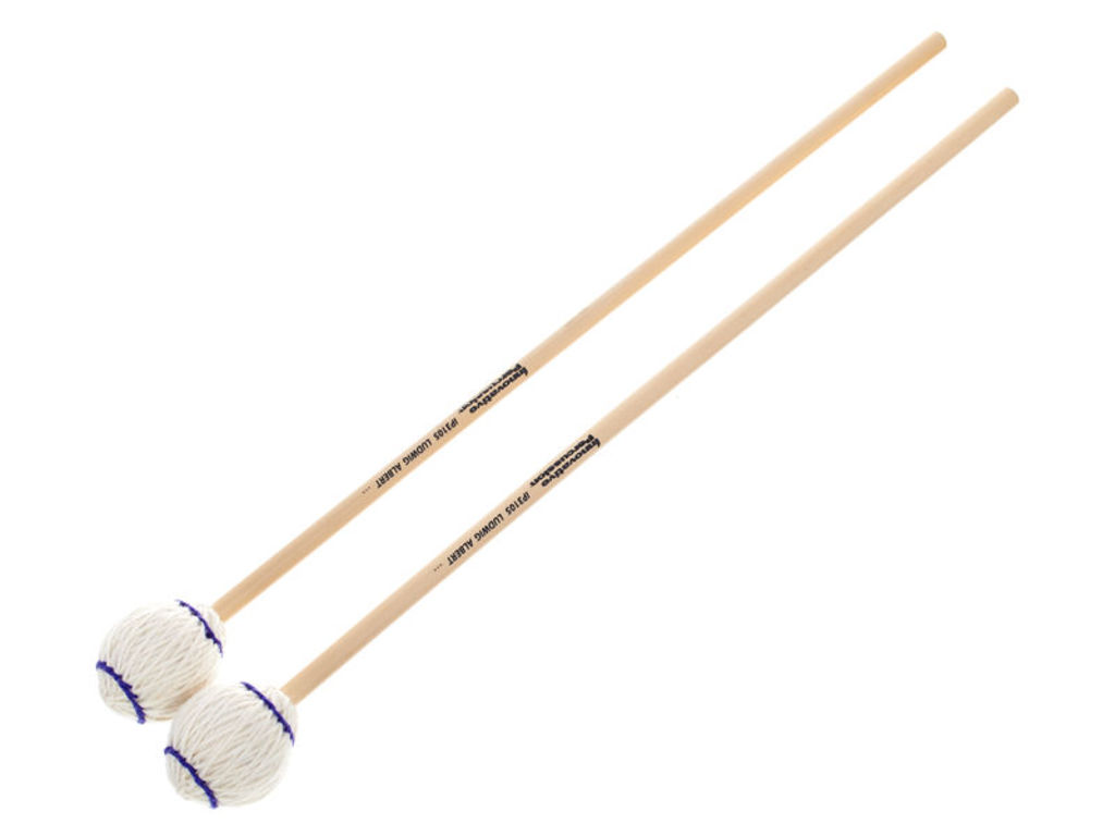 Marimba Mallet Innovative Percussion IP 3105, Ludwig Albert Serie, Medium, Wit Garen, Rattan