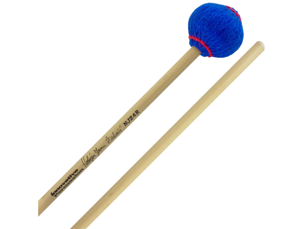 Marimba Mallet Innovative Percussion NJZ4R, Nebojsa Zivkovic Serie, General, Blauw, Rattan