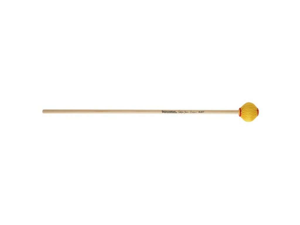 Marimba Mallet Innovative Percussion NJZ7, Nebojsa Zivkovic series, Extra hard, yellow, cedar