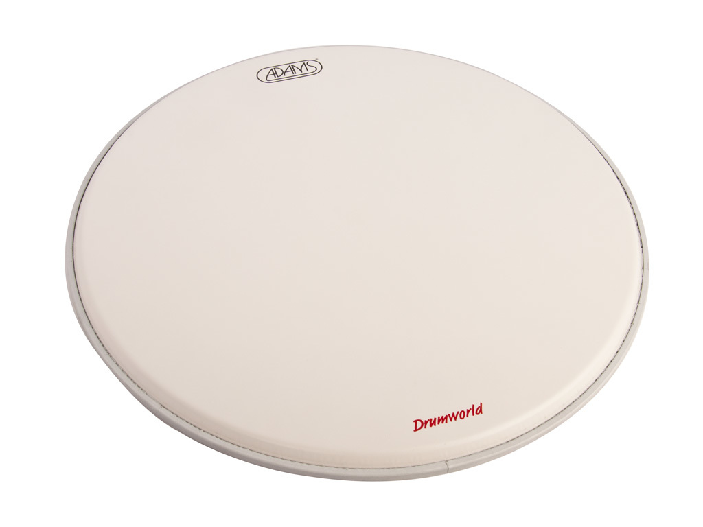 "Bassdrum Vel Adams Coated, 1-ply 22"", met dempring, wit"