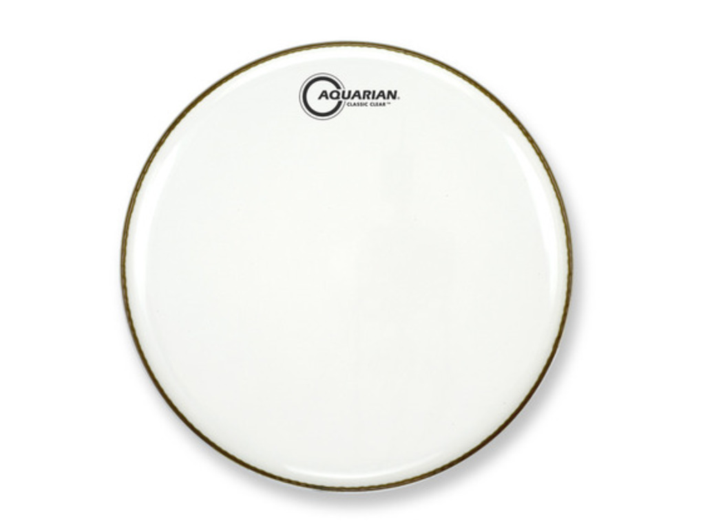 "Bassdrum Vel Aquarian CC22SW, Classic Clear Smooth, 1-ply 22"", wit"