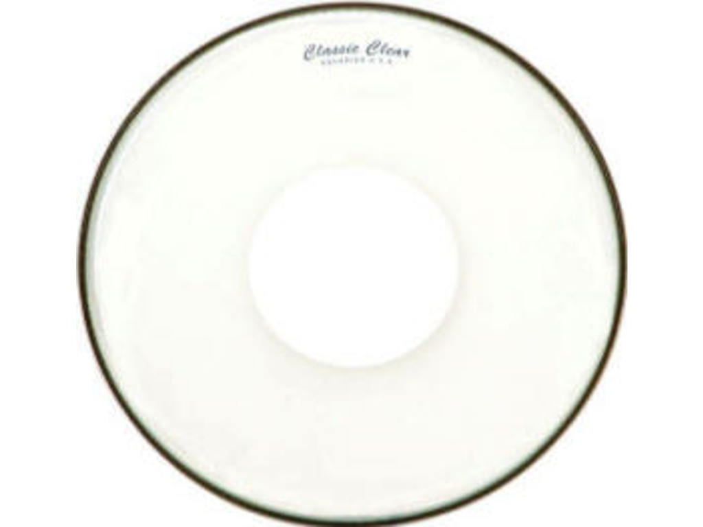 "Tom Vel Aquarian CCPD14, Classic Clear, 1-ply 14"", clear met power dot"