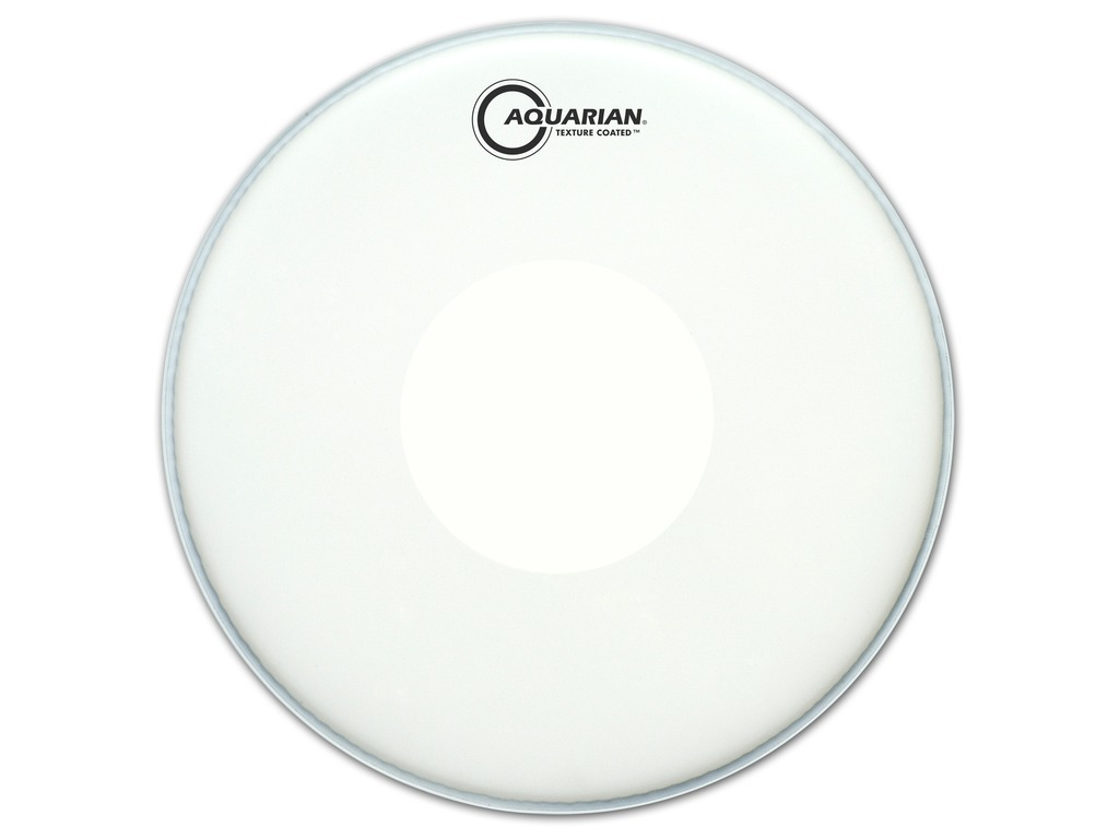 "Snaredrum Vel Aquarian TCPD14, 1-ply 14"", coated, met power dot reversed"