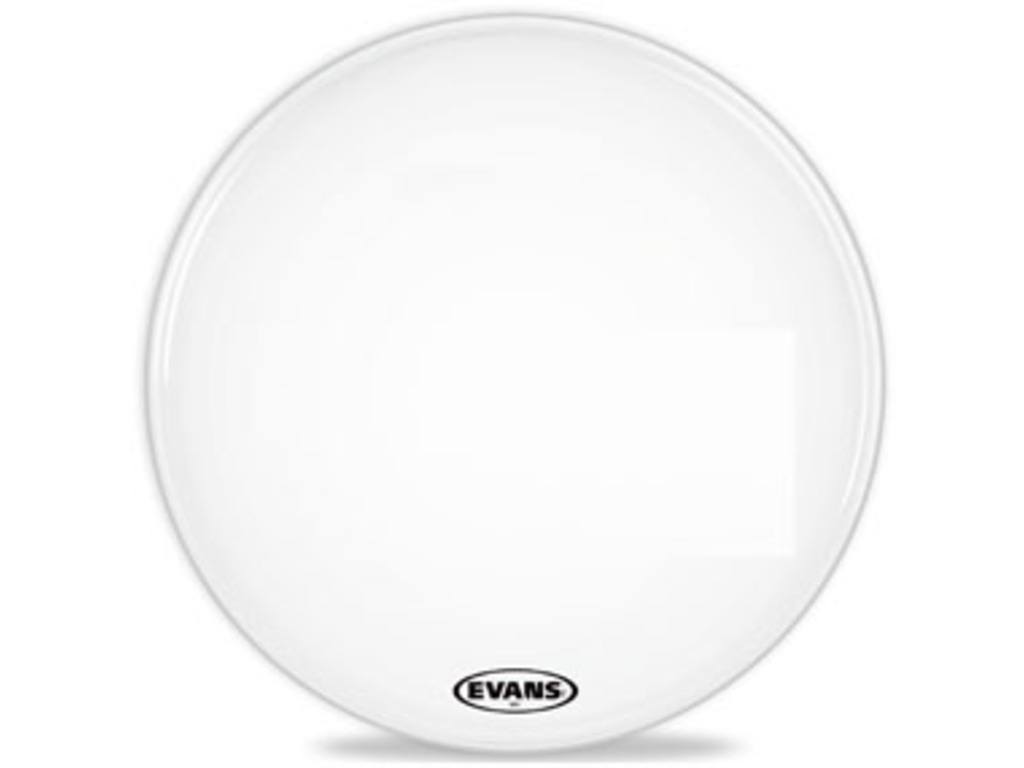 "Bassdrum Vel Evans BD16MS1W, 16"", MS1 Wit, marching, coated"