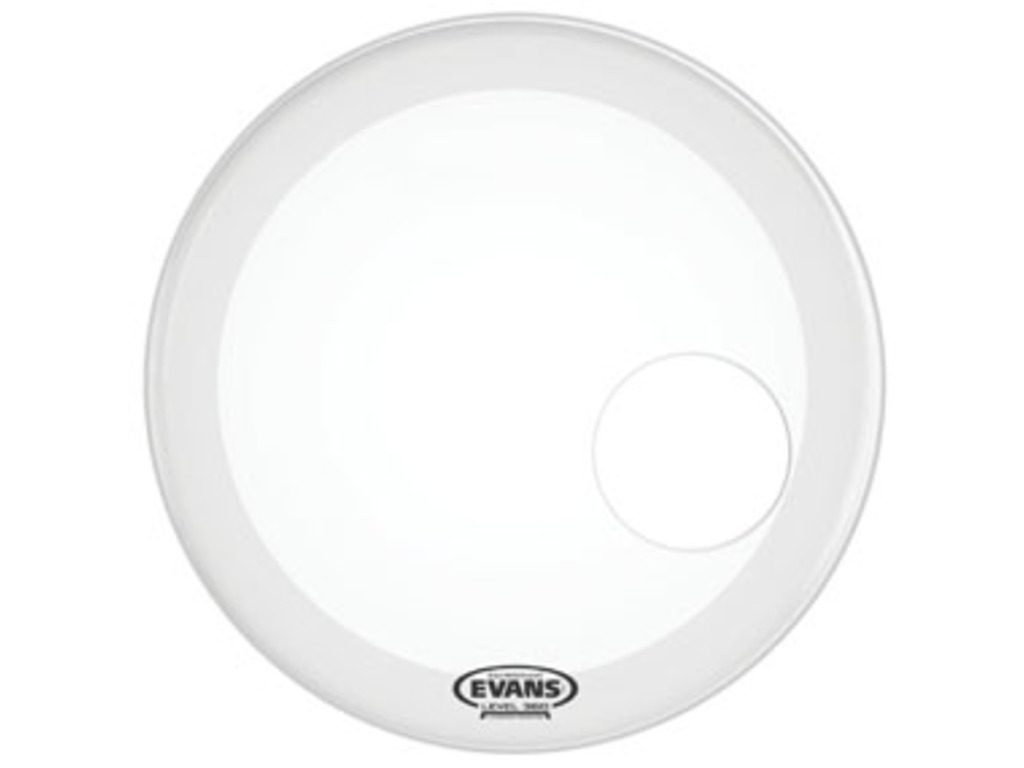 "Bassdrum Vel Evans BD18RGCW, Genera EQ3 Resonant, 1-ply 18"",coated, wit met 5""gat"