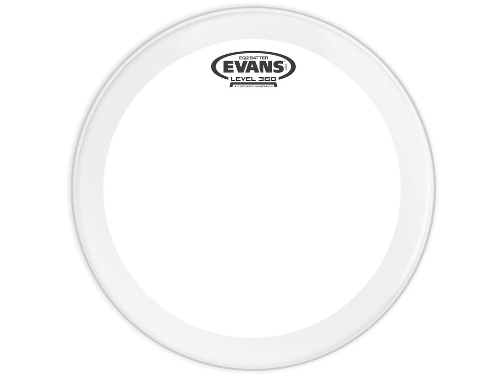 "Bassdrum Vel Evans BD22GB2, EQ 2, 2-ply 22"", clear"