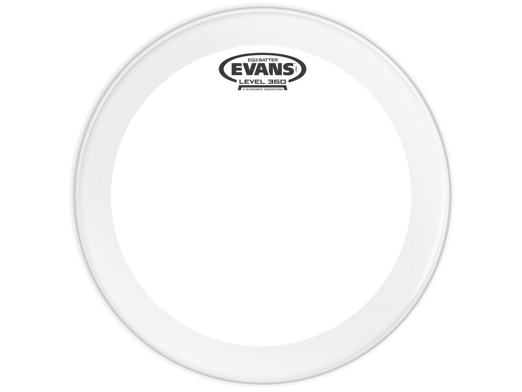 "Bassdrum Vel Evans BD22GB3, EQ 3, 2-ply 22"", clear"
