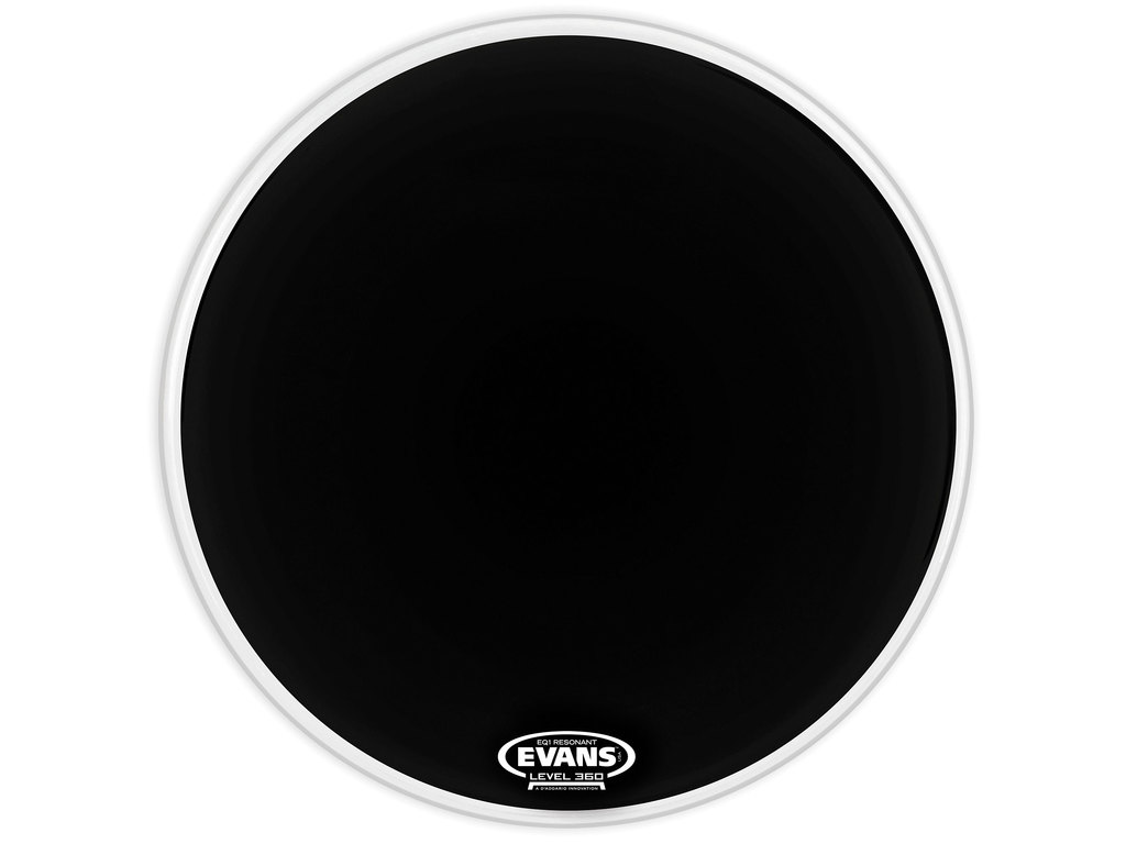 "Bassdrum Vel Evans BD22RA, EQ1, Resonant, with dry vents, 1-ply 22"", zwart"