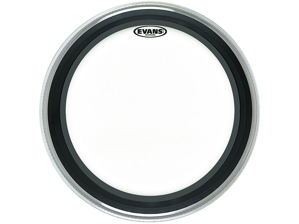"Bassdrum Vel Evans BD24EMAD, Emad, 1-ply 24"", clear"