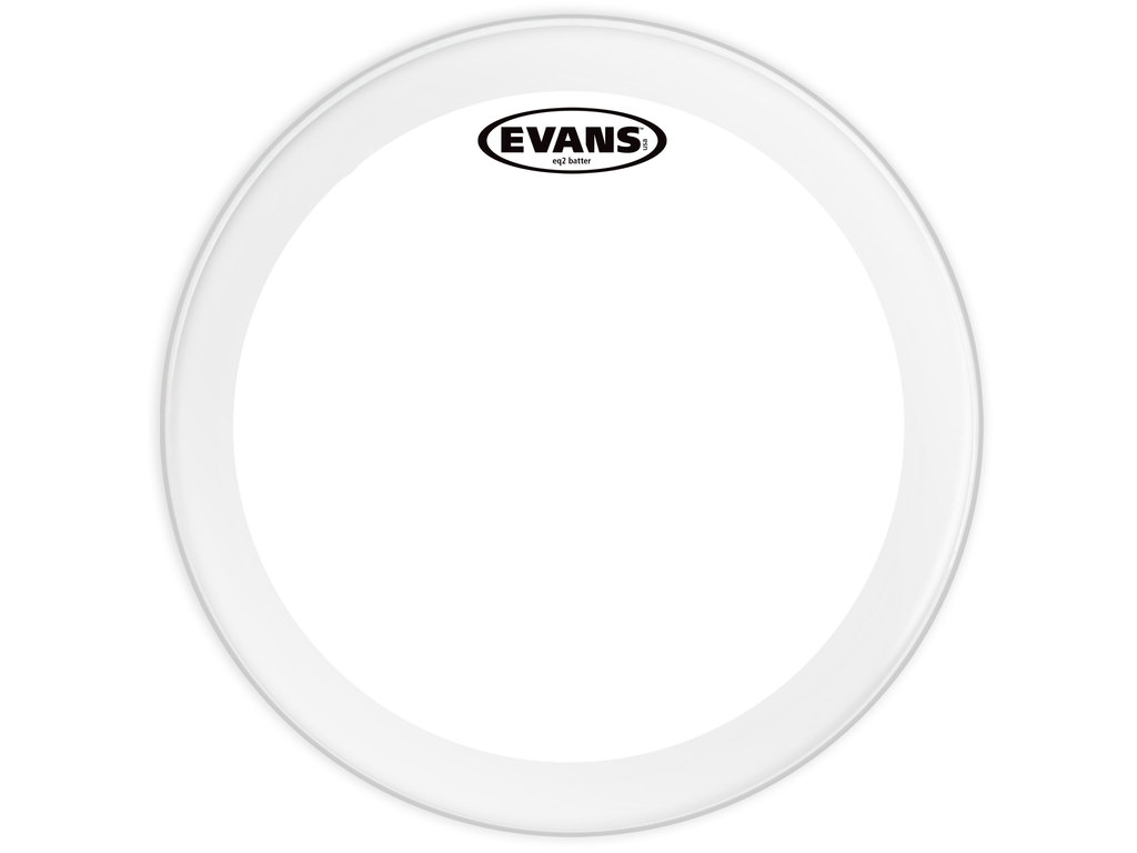 "Bassdrum Vel Evans BD24GB2, EQ 2, 2-ply 24"", clear"