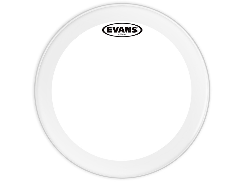 "Bassdrum Vel Evans BD24GB3, EQ 3, 2-ply 24"", clear"