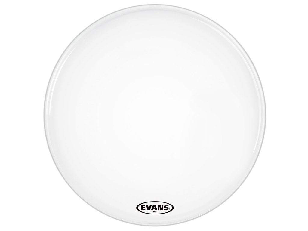"Bassdrum Vel Evans BD28MX2W, MX2 White, Marching, 2-ply 28"", wit"