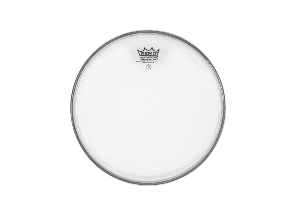 Tom / Snaredrum Vel Remo BA-0310-00, Ambassador Clear, 1-ply 10""