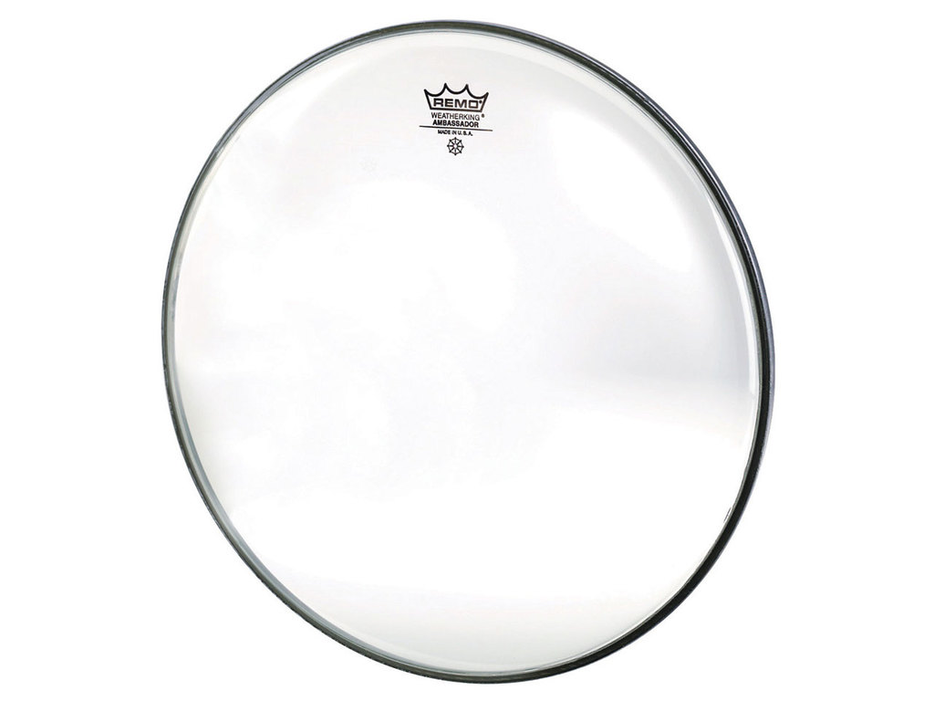 Bassdrum Vel Remo BR-1324-00, Ambassador, Clear, 1-ply 24""