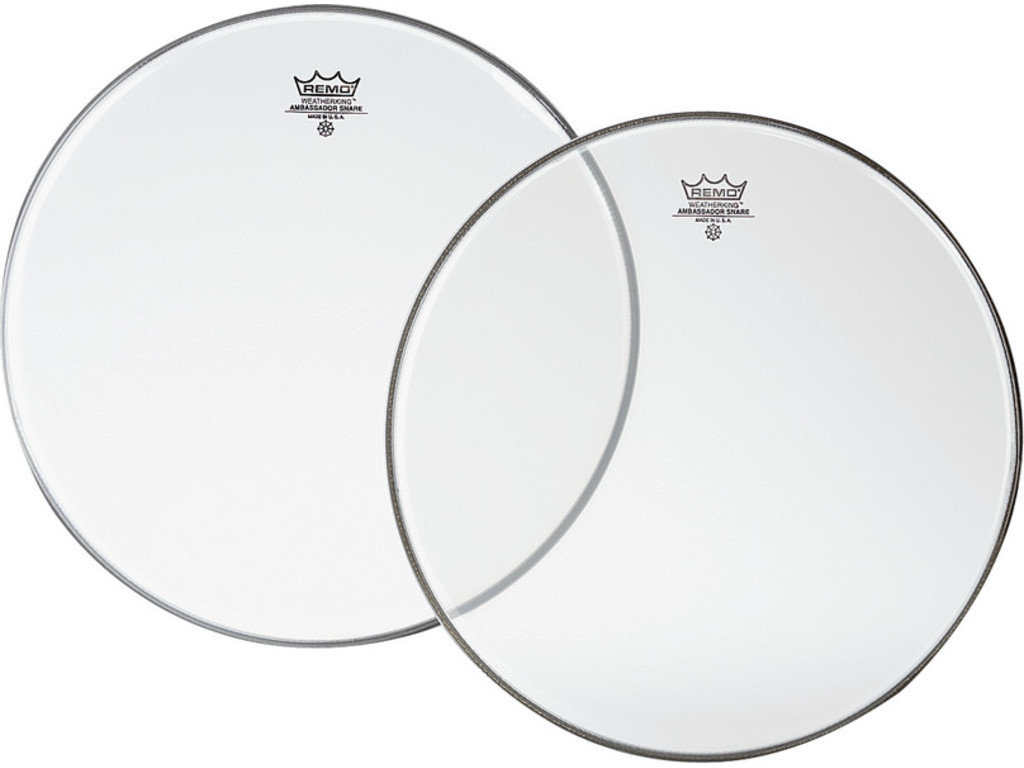 Snaredrum Vel Remo SA-0112-00, Ambassador Snareside, Clear, 1-ply 12""