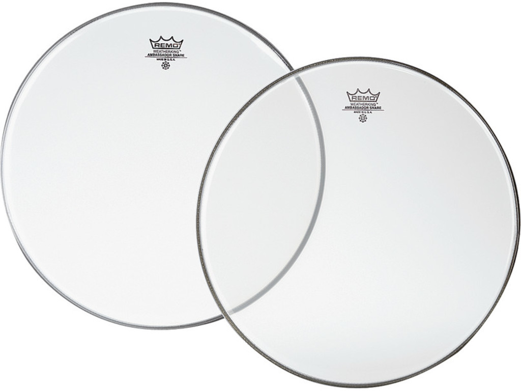 Snaredrum Vel Remo SA-0116-00, Ambassador Snareside, Clear, 1-ply 16""