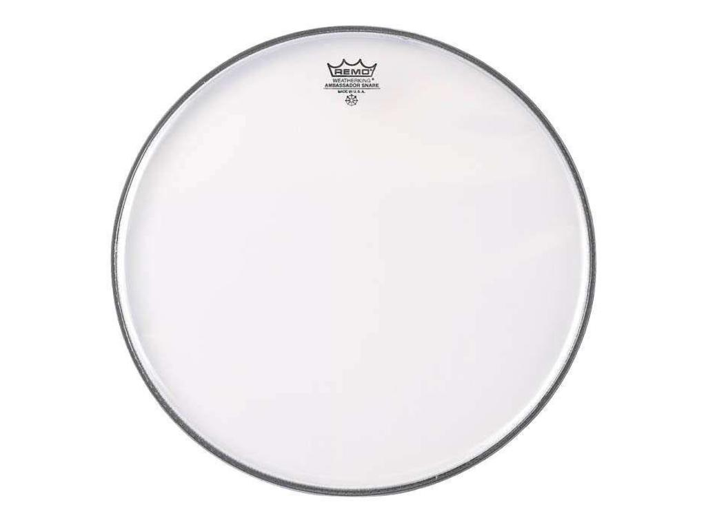 "Snare Drum Head Remo SA-0314-TD, Ambassador Snareside Marching Snare no collar, 1-ply 14"", clear"