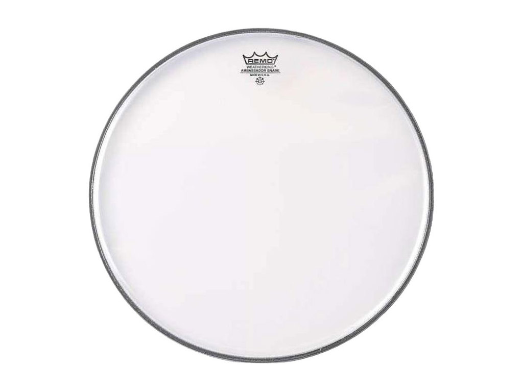 "Snaredrum Vel Remo SA-0315-TD, Ambassador Snareside Marching Snare, no collar, 1-ply 15"", clear"