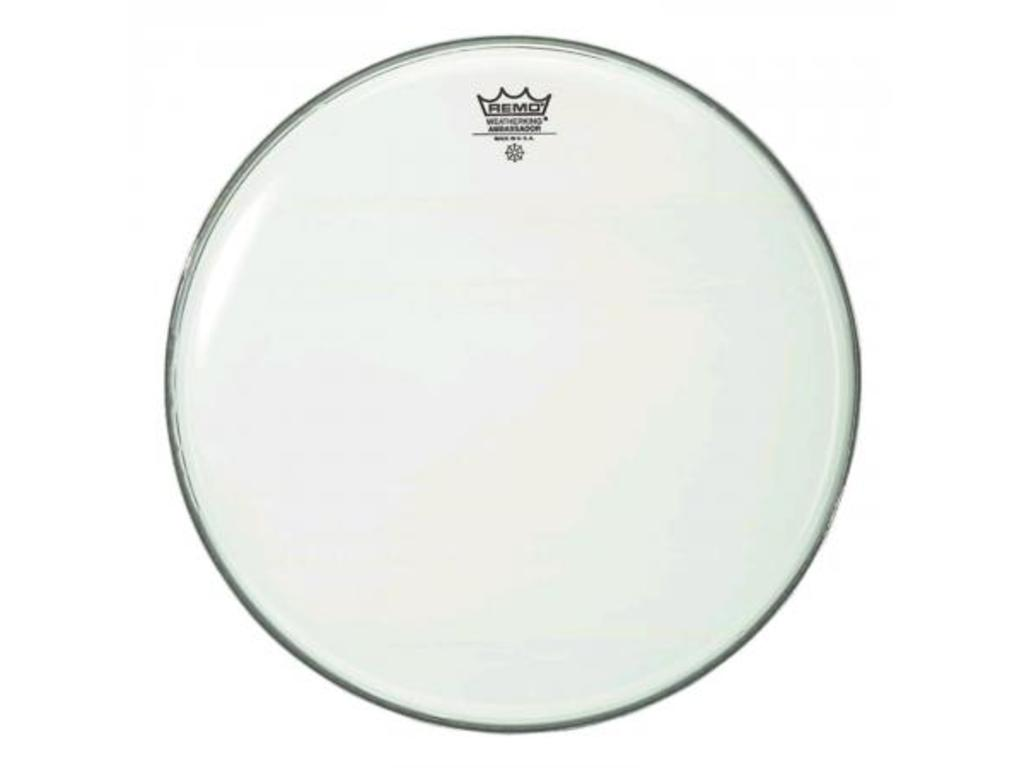 Tom / Snaredrum Vel Remo BA-0210-00, Ambassador Smooth White, 1-ply 10""