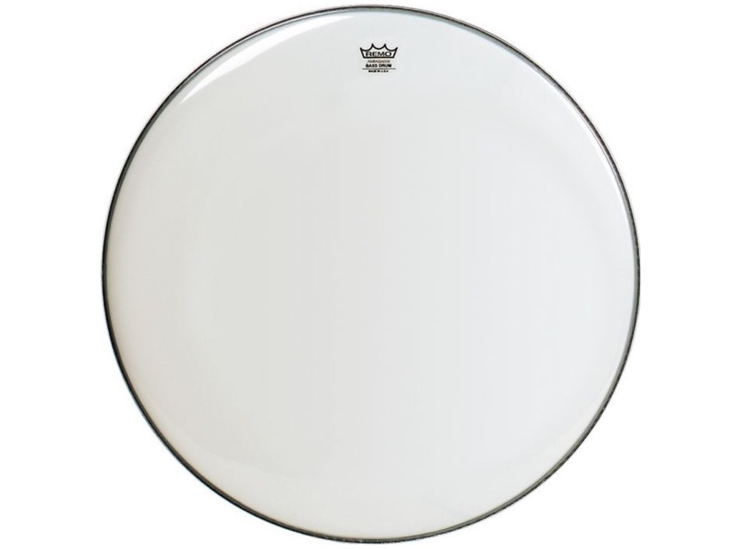 Bassdrum Vel Remo BR-1222-00, Ambassador Smooth White, 1-ply 22""