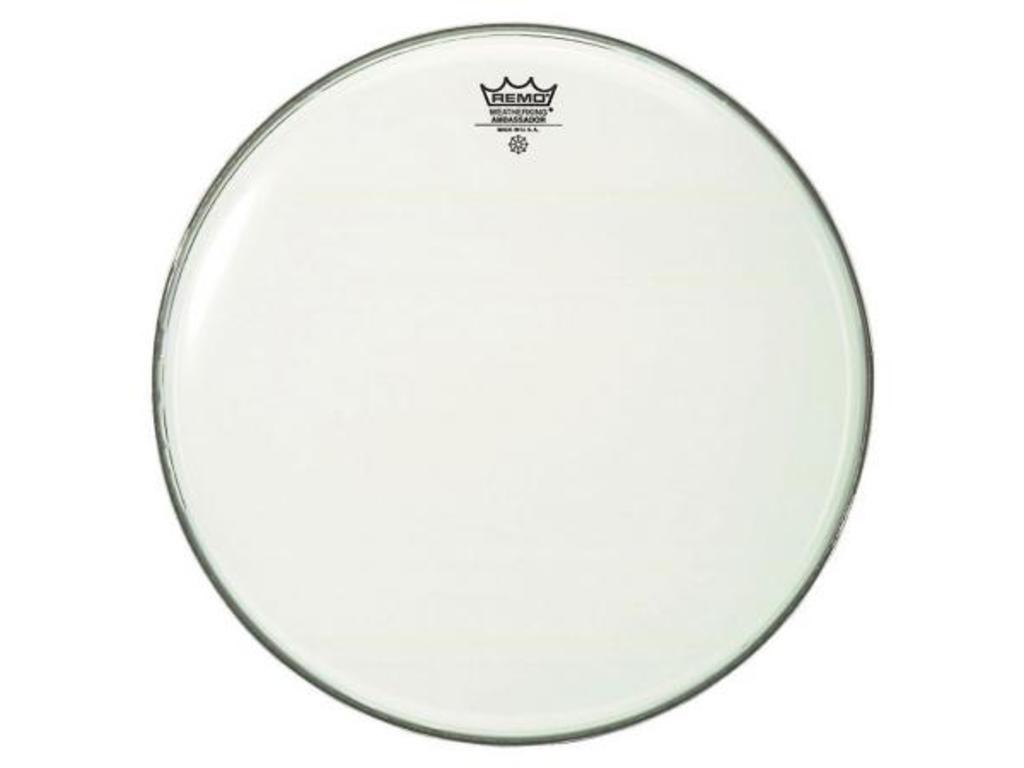 Bassdrum Vel Remo BR-1224-00, Ambassador Smooth White, 1-ply 24""