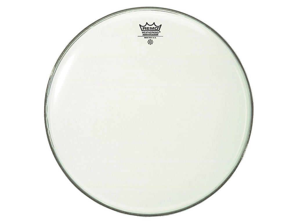 Bassdrum Vel Remo BR-1228-00, Ambassador Smooth White, 1-ply 28""