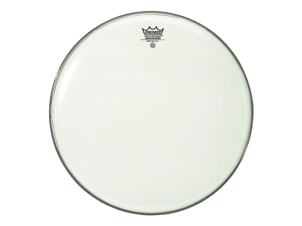 Bassdrum Vel Remo BR-1240-00, Ambassador Smooth White, 1-ply 40""