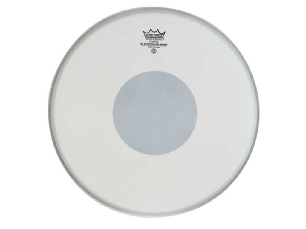 "Tom / Snaredrum Vel Remo CS-0113-10, Controlled Sound Coated 13"", dot op onderkant"