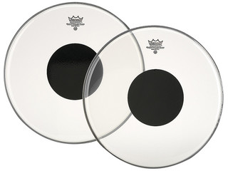 "Tom / Snaredrum Vel Remo CS-0310-10, Controlled Sound, Clear, 1-ply 10"", met zwarte dot"
