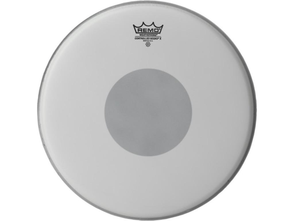 "Snare Drum Head Remo CX-0114-10, Controlled Sound X Coated, 1-ply 14"", dot on bottom side"