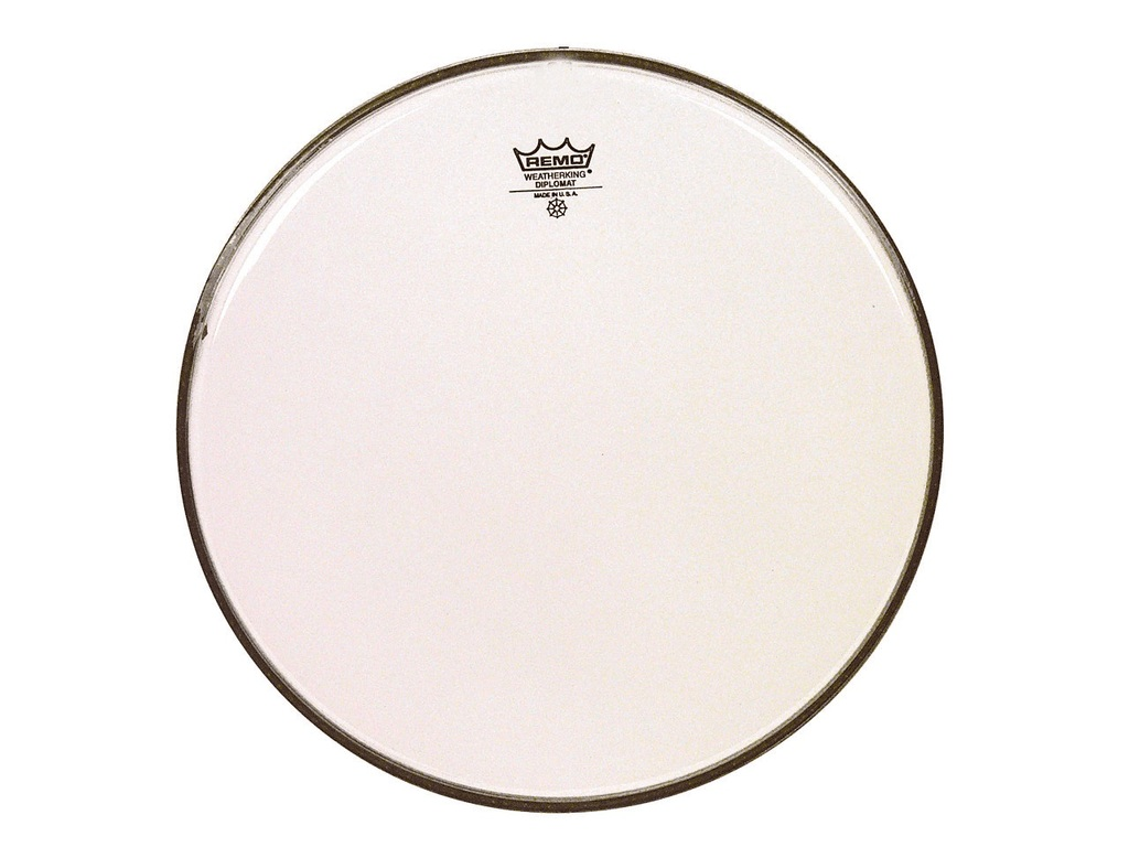 Tom / Snaredrum Vel Remo BD-0312-00, Diplomat Clear, 1-ply 12""