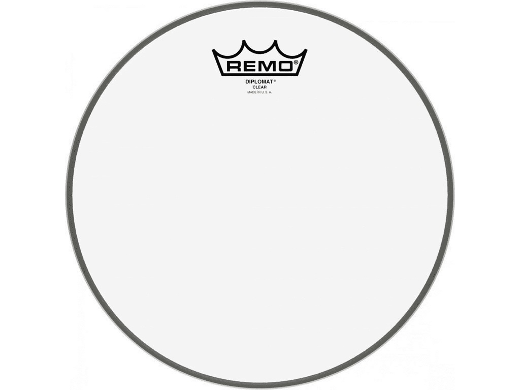 Tom / Snaredrum Vel Remo BD-0314-00, Diplomat Clear, 1-ply 14""